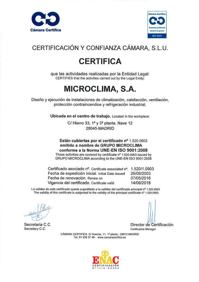 Microclima-ISO-9001